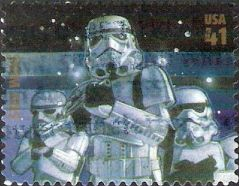 41-cent U.S. postage stamp picturing Stormtroopers