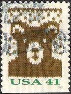 41-cent U.S. postage stamp picturing toy bear