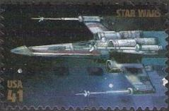 41-cent U.S. postage stamp picturing X-Wing Starfighter