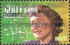 41-cent U.S. postage stamp picturing Gerty Cori