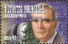 41-cent U.S. postage stamp picturing Edwin Hubble