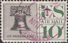 10-cent U.S. postage stamp picturing Liberty Bell