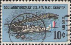 10-cent U.S. postage stamp picturing biplane