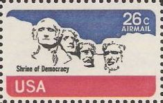 26-cent U.S. postage stamp picturing Mount Rushmore