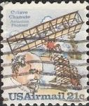 21-cent U.S. postage stamp picturing Octave Chanute