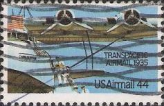 44-cent U.S. postage stamp picturing wing of airplane