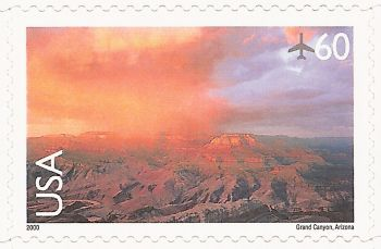 60-cent U.S. postage stamp picturing Grand Canyon