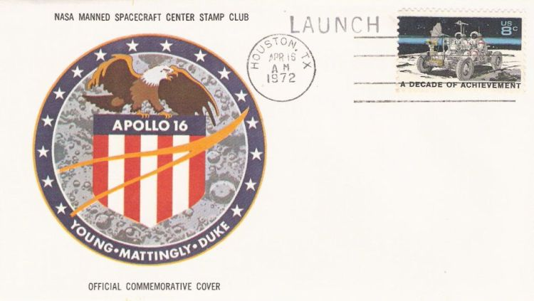 Cover bearing a decade of achievement stamp