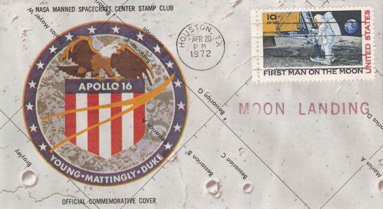 Cover bearing first man on the Moon stamp