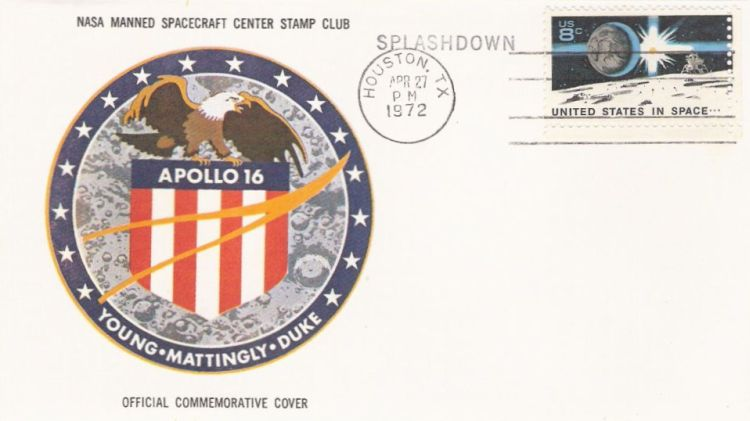 Cover bearing United States in space stamp