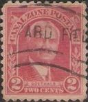 Red 2-cent Canal Zone postage stamp picturing George Washington Goethals