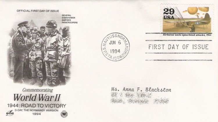 First day cover bearing 29-cent airborne units spearhead attacks stamp