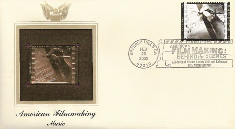 First day cover bearing 37-cent music stamp