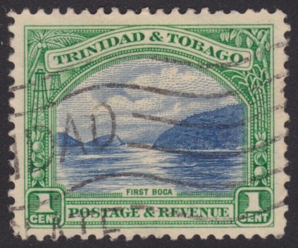 1-cent Trinidad and Tobago postage stamp picturing First Boca off Trinidad