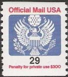 29-cent U.S. postage stamp picturing Great Seal of the United States