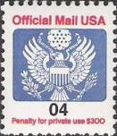 4-cent U.S. postage stamp picturing Great Seal of the United States