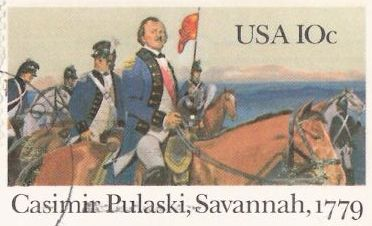 10-cent U.S. postal card picturing Casimir Pulaski