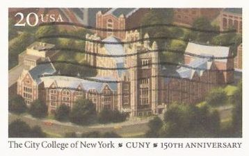 20-cent U.S. postal card picturing The City College of New York