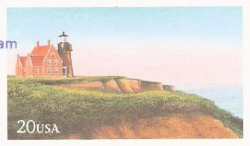 20-cent U.S. postal card picturing Block Island Lighthouse