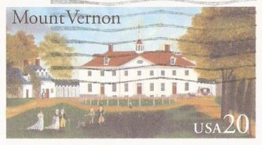 20-cent U.S. postal card picturing Mount Vernon