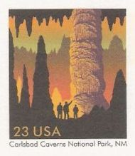 23-cent U.S. postal card picturing Carlsbad Caverns
