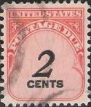 2-cent U.S. postage due stamp picturing numeral '2'