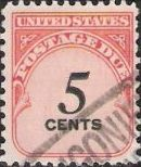 5-cent U.S. postage due stamp picturing numeral '5'