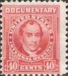 Red 40-cent U.S. revenue stamp picturing Louis McLane