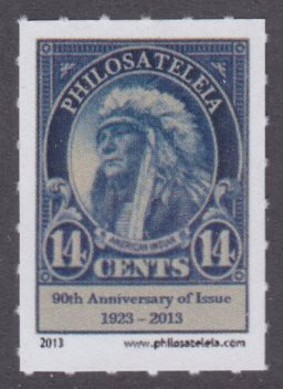 Philosateleian Post's American Indian stamp