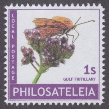 Philosateleian Post Gulf fritillary stamp