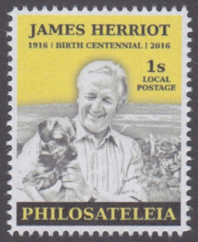 Philosateleian Post James Herriot stamp