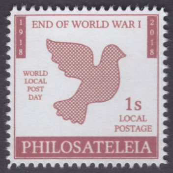 Philosateleian Post End of World War I stamp